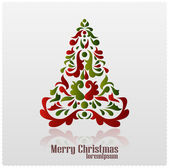 Abstract Christmas tree. Christmas card. vector — Stock Vector