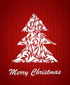 Abstract Christmas tree. Christmas card. vector — Stock Vector