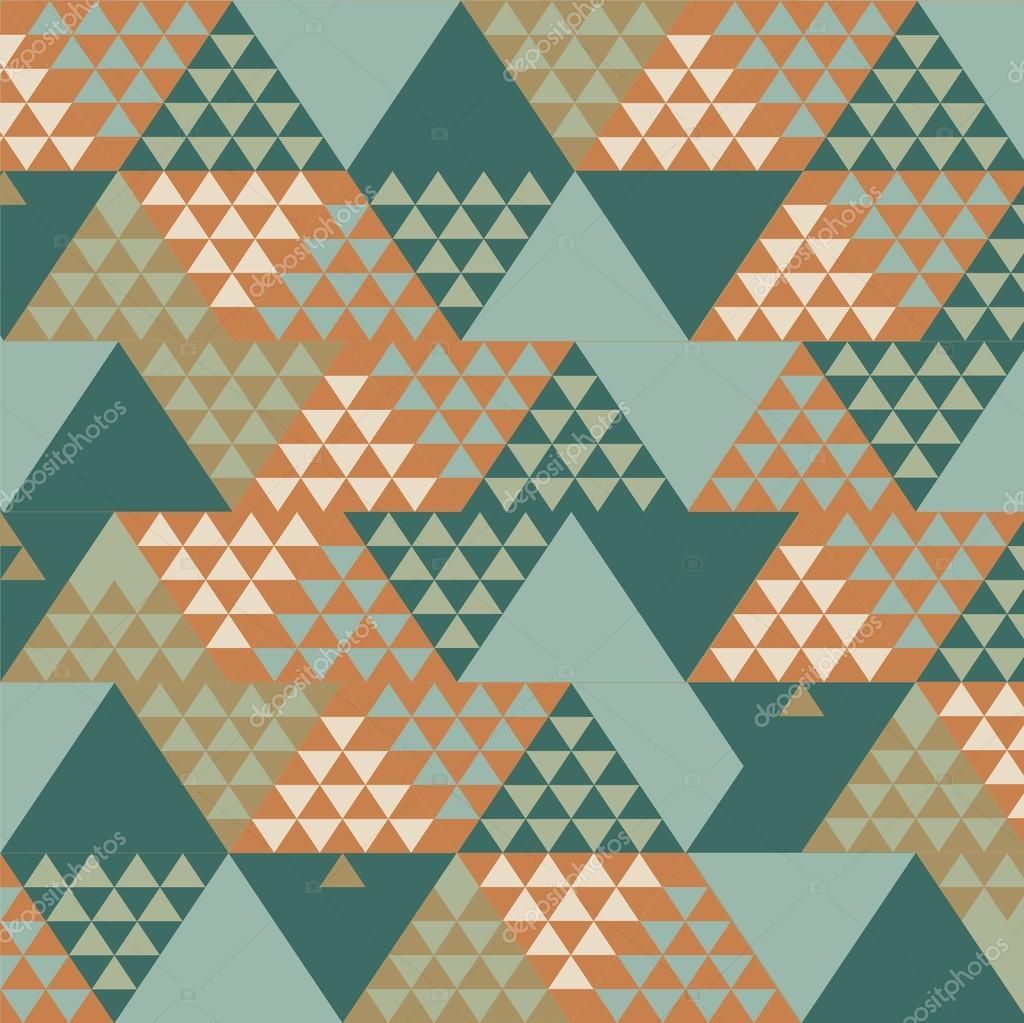 Abstract Retro Geometric Background. Vector Illustration ...