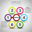 Web design. vector progress steps - Vettoriali Stock