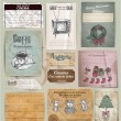 Vector set tickets , paper different object — Vector de stock #16241131