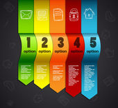 Sjabloon voor infographics genummerde lijn banners website — Stockvector