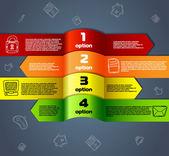 インフォ グラフィックの番号が付いた行のバナーのウェブサイト用のテンプレート — ストックベクタ