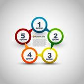 Conception de sites web. étapes de progrès de vecteur — Vecteur