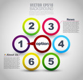 Web design. vector progress steps — Stock Vector