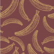 Banana seamless pattern — Stock vektor