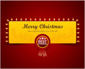 Christmas Greeting Card. Merry Christmas lettering, vector illus — Vector de stock