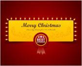 Noel tebrik kartı. merry christmas yazı, vektör illus — Stok Vektör