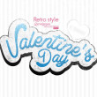 Paper Valentines day card vector background — Image vectorielle