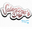 Paper Valentines day card vector background — Stock Vector
