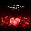 Valentin day, Greting card with heart and love — Stock Vector
