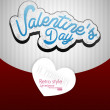 Paper Valentines day card vector background — Vettoriali Stock