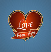 Valentine's Day. Retro Vector background. Gift card. — Stock Vector