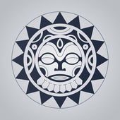Polynesian tattoo styled vector illustration — Vector de stock