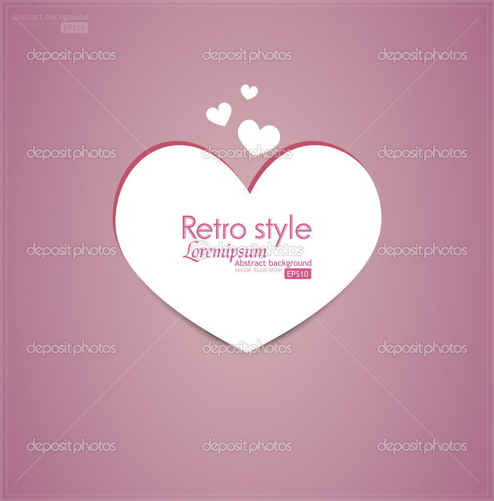 Valentine's Day. Vector background. Gift card. — Stock Vector #19743933