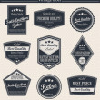 Retro vintage badges and labels. — Grafika wektorowa