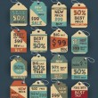 Set of retro vintage badges and labels. — Imagen vectorial