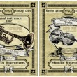 Vector set vintage labels — Vettoriale Stock #37068331