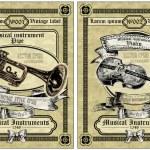 Vector set vintage labels — Stock Vector