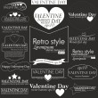 Collection of Valentine day — Stock Vector