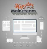 Moderno diseño plantilla web o fographics. — Vector de stock