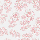 Retro floral seamless background — Stock Vector