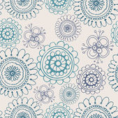 Seamless floral retro pattern for wallpaper — Stock Vector