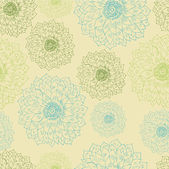 Seamless floral retro pattern for wallpaper — Stok Vektör