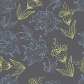 Seamless floral retro pattern for wallpaper — Stockvektor
