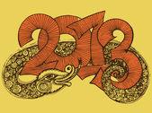 Year of the snake design 2013. — Vector de stock