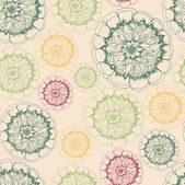 Endless pattern with flowers. — Vecteur