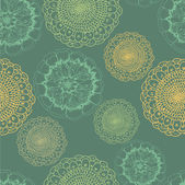 Endless pattern with flowers. — Vector de stock