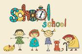 Stellen over school — Stockvector