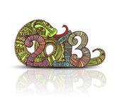 Año del diseño en el estilo de maya serpiente — Vector de stock