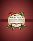 рождественский фон векторное изображение — Cтоковый вектор
