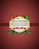 Christmas background vector image — Cтоковый вектор
