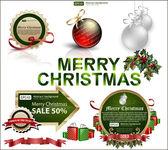 Set of Christmas items — Stock vektor