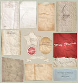 Kit scrapbooking digital: papel velho — Vetorial Stock