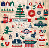 Christmas decoration collection — Vector de stock