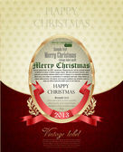 Gold Christmas greeting card — Stock Vector