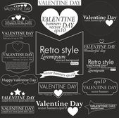 Collection of Valentine day — Stock vektor