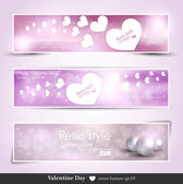 Valentine vector background brochure — Stock Vector