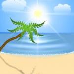 Beach on an ocean coast. — Stock Vector #37071143
