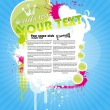 Colour summer grunge the poster. — Stock Vector #37071427