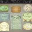 Background set: vintage labels — Stock Vector