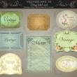 Background set: vintage labels — Stock Vector