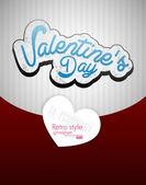 Paper Valentines day card vector background — Vector de stock