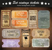Set: tickets in different styles — Stock Vector