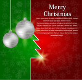 Abstract Christmas background for card. — Vector de stock