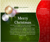 Christmas background vector — Vecteur